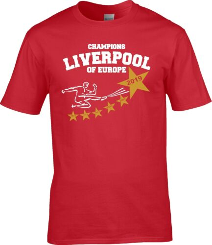 5XL Liverpool UEFA Champions LEAGUE CUP FINAL 2019 WINNERS Years T SHIRT S