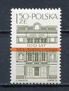35908) Poland 1976 MNH Poznan Theatre 1v