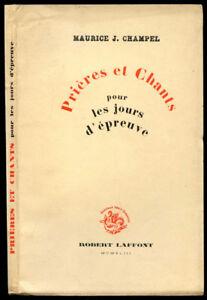 Maurice-J-Champel-PRIERES-ET-CHANTS-pour-les-JOURS-D-039-EPREUVE-1943-Envoi