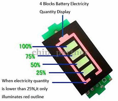 3S Lithium Battery Capacity Indicator Module 12.6V Green Display Power Tester UK