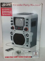 GPX JM250S Karaoke System CD+G Home Party Machine only used A Couple times