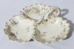 Limoges-France-Martin-Freres-amp-Brothers-Large-Divided-3-Section-Candy-Dish