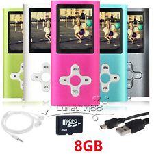 8GB MP3 MP4 Players Portable Voice Recording Media Videos Music Player 5 Colour