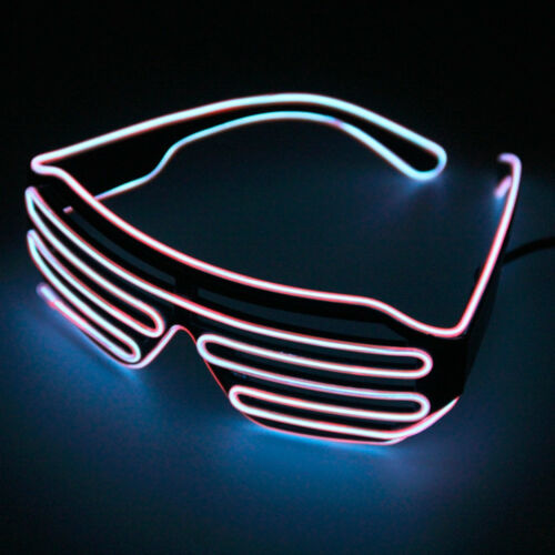 Led Glasses Light Up Party Glow El Shutter Sunglasses Neon Frames Wire Nightclub