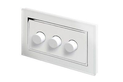 Retrotouch Touch /& Télécommande Variateur d/'intensité DEL 1 Gang 1 Way verre blanc CT 00145