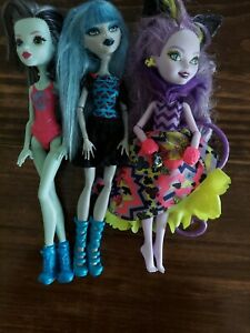 Monster-High-Frights-Camera-Action-3-Doll-Lot