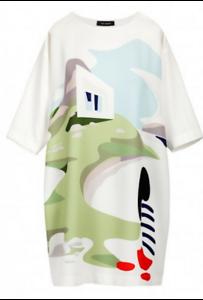 100f66f0b Détails sur COP COPINE ETE 2018 : robe imprimée modèle HAULITE 38 blancCOP  COPINECOP COPINE
