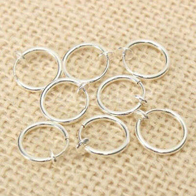 8 x Clip on Fake Hoop Boby Nose Lip Ear Ring stud earrings Punk Goth Piercing