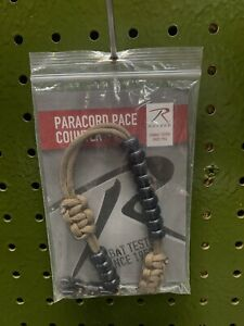 Army Ranger Paracord Pace Counter Beads Bracelet for Navigation