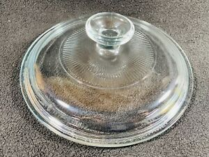 Vintage-PYREX-Clear-Round-Glass-Lid-Replacement-G5C-G-5-C-7-5-034