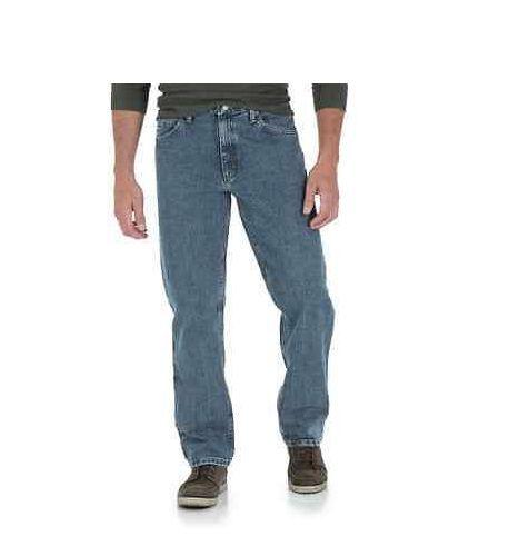 New Authentic WRANGLER CLASSIC STRAIGHT LEG JEANS Medium Stonewash NWT 38-30