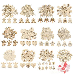 10-50pcs-Wood-Christmas-Tree-Hanging-Ornament-Pendant-Xmas-Crafts-Gift-Decor-DIY