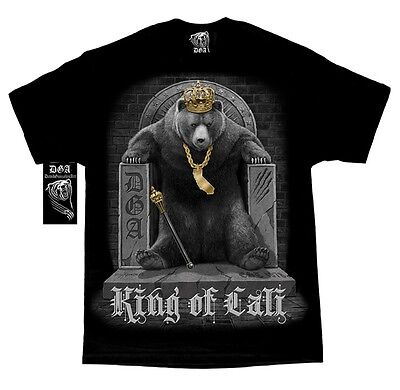 DAVID GONZALES DGA KING OF CALI CALIFORNIA BEAR THRONE TATTOO MENS T SHIRT M-5XL