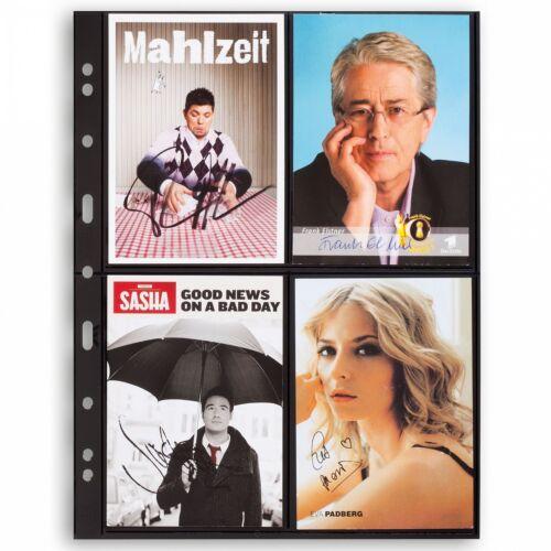 Black Postcard Album Pages GRANDE 2ST Leuchtturm 333959 Postcard Collection Page