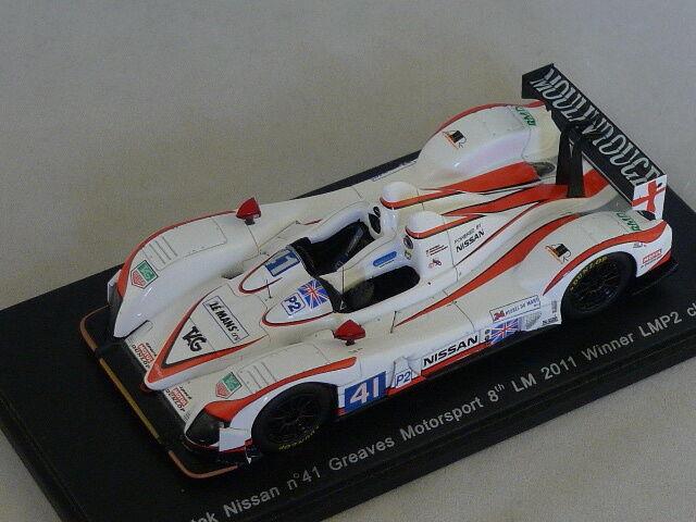 Spark S2533  -  ZYTEK Nissan Greaves Mspt n°41 8ème Le Mans 2011 1er LMP2 1 43  les derniers modèles