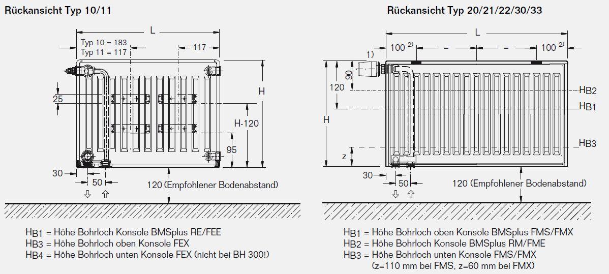 Buderus Ventil Ventil Ventil Heizkörper Typ 11 H600 x L1200 mit Halter und Stopfen bd61a8