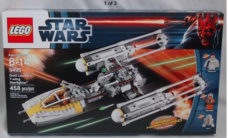 Lego Star Wars 9495 oro Líder Y-wing Starfighter Princesa Leia R-5-F7 sin usar y en caja sellada un