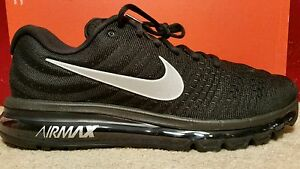 Men's Nike Air Max 2017 Running Shoes Black White Anthracite 849559-001 Size 9