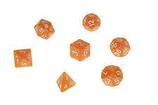 Dice Pearl Set of 7 Orange Dice