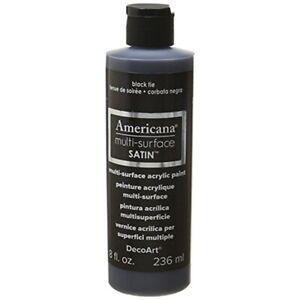 Americana-Multi-surface-Satin-Acrylic-8oz-black-Tie