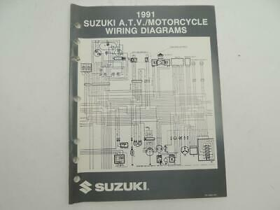 Vintage 1991 Suzuki ATV Motorcycle Wiring Diagrams Manual ...