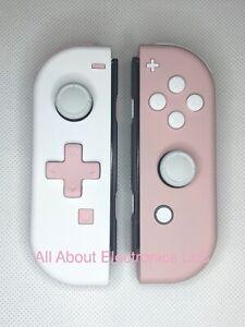 Nintendo Switch Custom Joycons Pink White Joy Con Set Controller D Pad Ebay