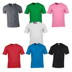 GILDEN-T-SHIRTS-MENS-T-SHIRTS-SHORT-SLEEVE-100-Cotton-IDEAL-FOR-PRINTING