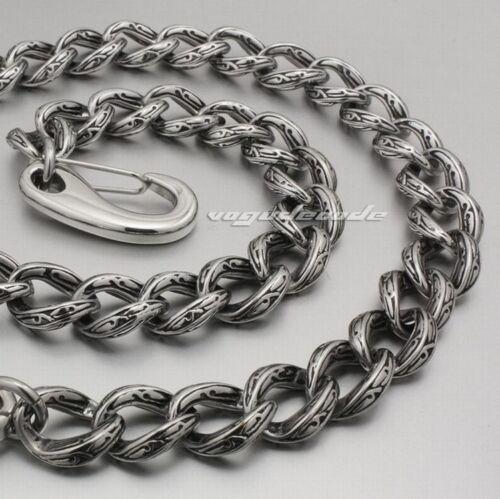 "316L Stainless Steel Waist Chain Mens Biker Punk Wallet Chain 5C016WCB 12/"" ~ 36/"""
