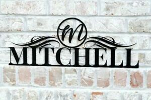Personalized-Outdoor-Metal-Name-Sign-with-Circle-Monogram