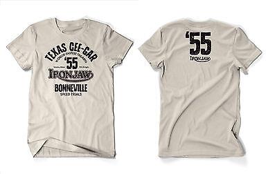 Iron Jaw Texas Cee-Gar Triumph Bonneville motorcycle biker 100% cotton t-shirt