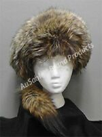 Ausable Brand Style Coyote Boone Fur Hat Size S - 21 1/8 - 21 1/2 Made In Usa