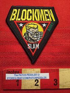 RARE-PATCH-Blockmen-Military-Building-System-SGT-SLAM-ARMY-64Y