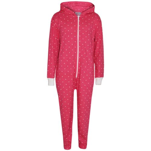 Kids Girls Boys Polka Dot Cotton A2Z Onesie One Piece Hooded Jumpsuit 2-13 Years