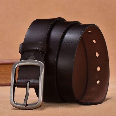 Vache en cuir véritable automatique vintage Ratchet boucle ceintures pour hommes 110 To 130 cm