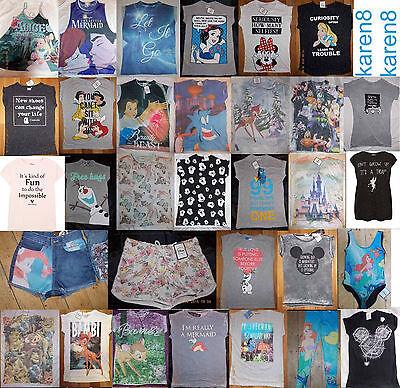 DISNEY Licensed Ladies Character T Shirt Top Primark