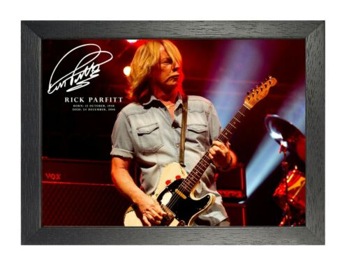 6 Rick Parfitt English Rock Music Star Poster Guitar On Stage Photo Signed Print