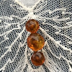 Victorian-Amber-Brooch-Antique-Honey-Amber-Pin-Vintage-Baltic-Faceted-1890s-Old