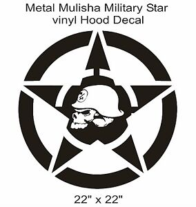 Image Is Loading QUALITY METAL MULISHA Star Hood Vinyl Car Truck