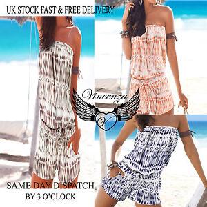 Mujer-Vacaciones-Mini-Mono-Damas-Pantalones-cortos-Playa-Verano-Mono-Vincenza-GB