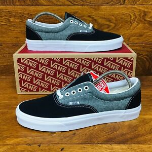 918f9a81 Details about *NEW* Vans Authentic Era Chambray Men All Sizes Skate Shoes  Canvas Black Grey