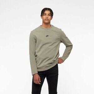 mano Desnudo Pareja  Nike Sportswear Tech Pack Long Sleeve Crew Sweatshirt Men's Gray Green  Crewneck | eBay