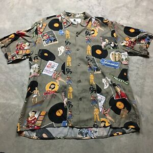 VINTAGE - CLOTHING ROCK AND ROCK ELVIS PRESLEY HAWAII PATTERN T-SHIRT