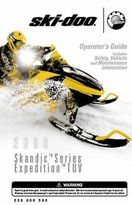 ski doo owners manual book 2006 expedition tuv ebay rh ebay com ski doo owners manual online ski doo owners manual download