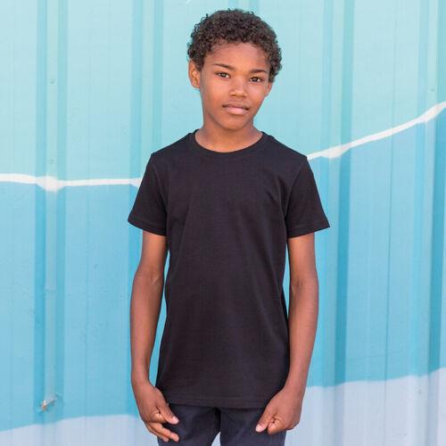 Junior Short Sleeve Cotton T-Shirt SF Mini Kids Longline Dipped Hem Tee SM258
