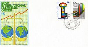 Nazioni UNITE 1980 ordine economico internazionale PRIMO GIORNO DI COPERTURA New York SHS