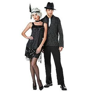 nwt couples roaring 1920s gangster and flapper halloween - Halloween Mobster Costumes