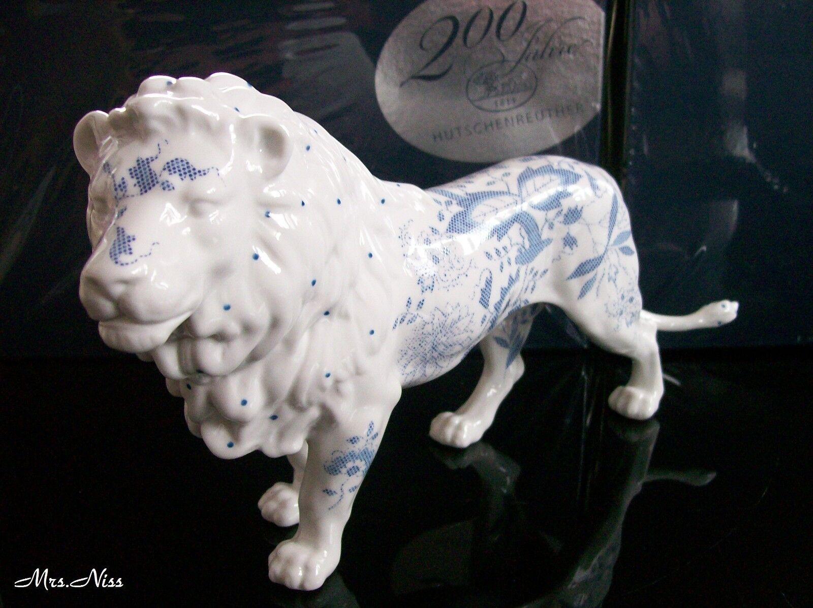 Hutschenreuther  Porzellanfigur Tierwelt Löwe Blau Drops 30 cm NEUWARE & OVP