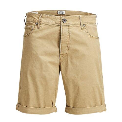 Mens Shorts JACK /& JONES Rick Oxford Cotton Twill Roll Up Stretch Chino