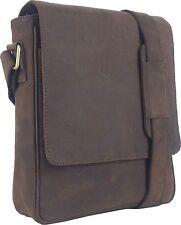 UNICORN Bolsa de cuero genuino - iPad, Tablet accesorios Bolsa - Marrón #6F