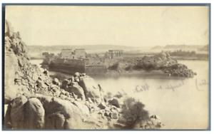 Egypte-Temple-Horus-et-de-Sobek-Kom-Ombo-vintage-albumen-print-Tirage-album